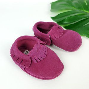 Leather Baby Girl Moccasins
